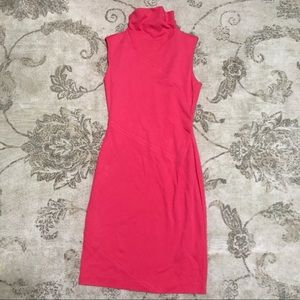 Diane Von Furstenberg Pink Faux Turtleneck Dress